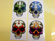 COLOURED SKULL The Day of the Dead Stickers Decals 2 off 83mm
