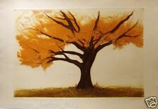 Jack Willis Russet Oak etching trees Hand Signed Artwork, Submit An Offer! L@@K!