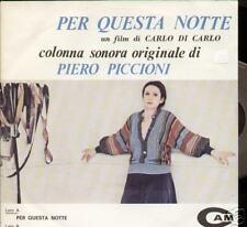 """Piero Piccioni PER QUESTA NOTTE ost 7"""" Italy CAM amp200"""