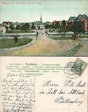 MULHAUSEN i.E. RHEIN-RHONE-KANAL MIT ANLAGEN FRANCE ANTIQUE GERMAN POSTCARD