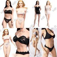 "1/6 Female Bikini Bra Underwear Clothes for 12"" Phicen KUMIK Action Figure Body"