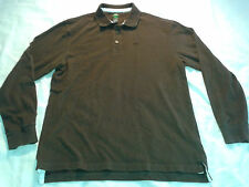 Mens Sweater/Pullover-TIMBERLAND L Large Brown 100% Cotton
