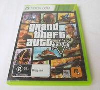 Mint Disc Xbox 360 Grand Theft Auto V 5 GTA5 Free Postage + Map + Manual