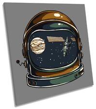 Astronomía espacial astronauta casco de LONA pared arte Foto impresión Cuadrado