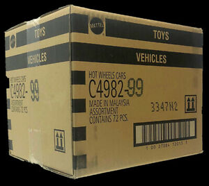 Hot Wheels SEALED 2021 CASES - NEW STOCK - 72 Cars - Hot Wheels Mainlines