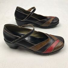 Spring Step Womens Size 41 US 10 Shoes Mary Jane Wedge Heel Brown Leather