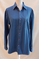 Lakeland mens denim with stretch button through style shirt Size M