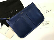 Paul Smith POUCH / CLUTCH BAG Blue Calf Leather - Made in Spain RRP £248