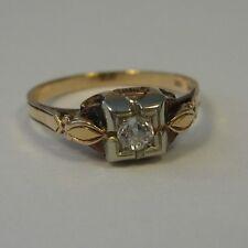 Size 6 Diamond Ring 14K 18K Gold Wedding Engagement Jewelry Old Mine Cut 40s 50s