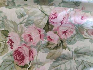 Laura Ashley Cottage Rose Floral FULL Bedskirt Pink Green Floral Ruffle USA NWOT