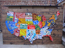 License Plate Map US Mixed State Lots EBay - Us map with license plates