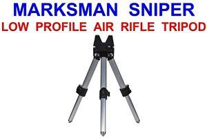 MARKSMAN LOW PROFILE SNIPER AIR RIFLE TRIPOD STALKER HUNTING SHOOTING GUN REST