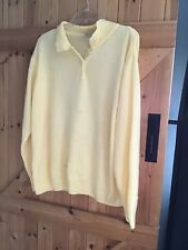 """Sunflower Yellow Damart Jumper Size 22/24 Chest 56"""" Used Not Immaculate"""