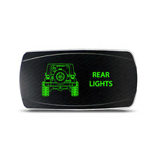 Rocker Switch Jeep Wrangler JK Rear Lights Symbol - Horizontal - Green LED