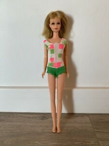 Vintage 1965 Mattel Francie Barbie Doll - Japan - in Original Bathing Suit