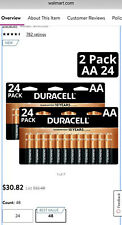 Duracell 2X(24Packs) Total 48 AA CopperTop Alkaline Batteries / Exp 2027 NIB