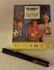 Collectible Sheaffer SNET PayPhone Pen and SNET Yellow Pages Paper Pad 1990's
