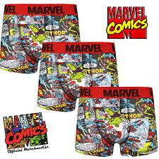 d0edc67587 marPack of 3 Mens Marvel Comics Boxer Short Trunks Sizes XS S M L XL Cotton  Gift