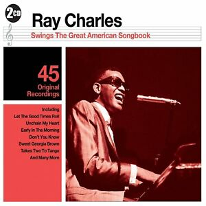 """Ray Charles """"Swings The Great American Song Book"""" NEW & SEALED 2CD Set 45 Tracks"""