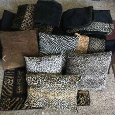 LQQK! Queen Size Leopard Print Bedding Comforter Pillows Rug Bedskirt Huge Lot!