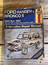 Haynes Repair Manual 36070 1983-1992 Ford Ranger Bronco Ii 2Wd 4Wd