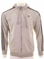 ADIDAS Mens Hoodie Sweater Large Grey Cotton  A206
