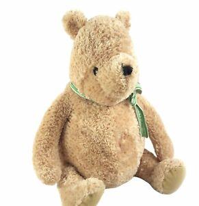"Disney Winnie The Pooh Classic Pooh Plush 15"" A Bear & His Things Green Ribbon"