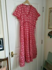 Anokhi for East Red Cotton Dress, Size 16