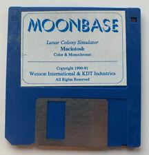 Moon Base - Lunar Colony Simulator Vintage Mac 3.5 Floppy Disk Only Macintosh