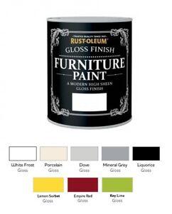 Rust-Oleum Gloss Furniture Paint 750ml / 125ml Chic Shabby Vintage Paints