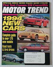 MOTOR TREND CAR MAGAZINE 1993 OCTOBER CAMARO 3000 GT VR4 Z28 ACCORD