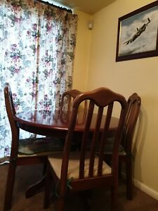 Dining table and chairs used