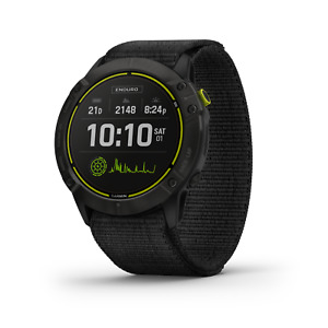 Garmin Enduro GPS Multisport Smartwatch Carbon Gray DLC Titanium w/ Black Band