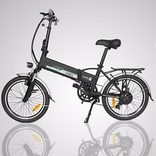 "Black 20"" 250W 36V Folding Electric Mountain Bicycle EBike Speed Lithium Battery"