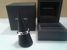 Georg Jensen 18ct White Gold END Fusion Ring  SIZE, R , brand new