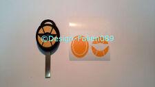 Carbon Gelb Folie Dekor Schlüssel Key Cooper JCW S Mini R53 John Works