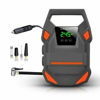 12V Digital Tire Inflator Car Portable LED Lighting Air Compressor Pump 150 PSI