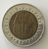 EGYPTIAN ONE POUND COIN. KING TUT,good circulated condition.