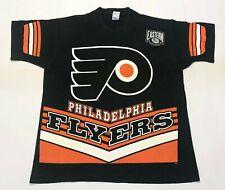 Vintage Salem NHL Philadelphia Flyers All Over Print T-Shirt Black L Tee USA