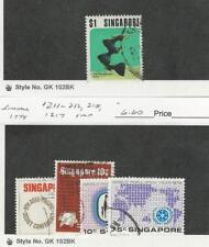 Singapore, Postage Stamp, #209, 211-2, 215, 217 Used, 1974 Fish