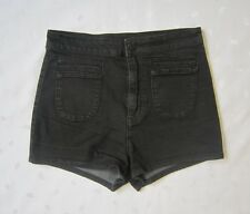 $54 BDG Urban Outfitters High Waist Black Wash Denim Shorts Jeans ~ Size 27
