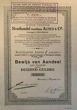 Houthandel voorheen Altius & Co. - Amsterdam - 1918