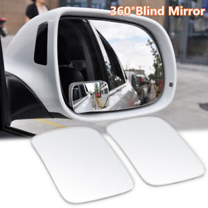 1 Pair Adjustable Car RV Blind Spot Mirror Glass Exterior Rear Side View Durable