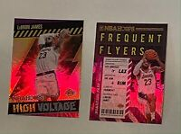 2021 NBA HOOPS LEBRON JAMES HOLO INSERT FREQUENT FLYERS AND HIGH VOLTAGE