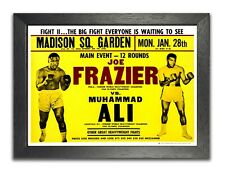 Muhammad Ali vs. Joe Frazier Heavyweight Fight Retro Advert Sport Boxing Poster