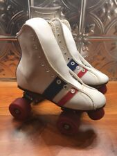Vintage ROLLER DERBY SKATES Red White and Blue Women's fireball