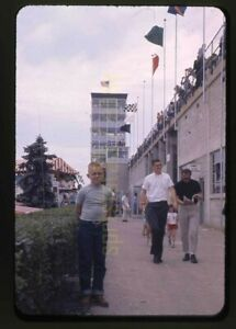 Boy Standing Outside 1964 USAC Indianapolis 500 - Vintage Race Slide