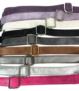 Zzfab Faux Leather Purse Strap Adjustable Replacement Shoulder Strap