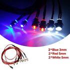 6 LED Light Kit 2 White 2 Red 2 Blue for 1/10 1/8 Traxxas HSP Redcat RC Car A822