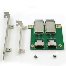 2 port SFF-8087 Mini SAS 26P to External 8088 PCI Adapter with Profile Bracket